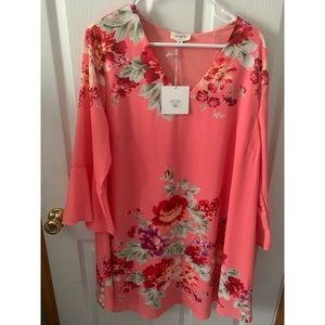 NWT Floral Umgee Bell Sleeve Dress